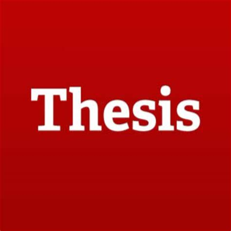 A master thesis research